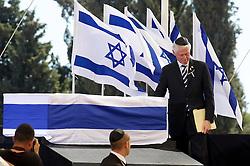 September 30, 2016 - Jeruzalem, ISRAEL - Former US President Bill Clinton attends the funeral ceremony of former Israeli president Shimon Peres, Friday 30 September 2016 in Jeruzalem, Israel. BELGA PHOTO NICOLAS MAETERLINCK (Credit Image: © Nicolas Maeterlinck/Belga via ZUMA Press)