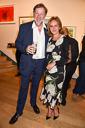 Caroline Michel and Rupert Gavin at The Philanthropist After Party held at The Mall Galleries, 17 Carlton House Terrace, London England. 20 April 2017.