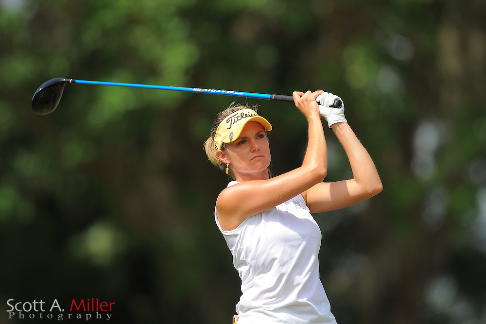 Lindsey Bergeon during the second round of the Symetra Tour's Florida's Natural Charity Classic at the Lake Region Yacht and Country Club on March 24, 2012 in Winter Haven, Fla. ..©2012 Scott A. Miller.