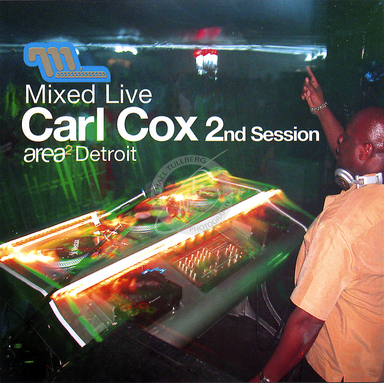 "CD Cover for the legendary Carl Cox's ""Mixed Live"" album, from Moonshine Music. This was recorded and shot live at Moby's ""Area2"" festival in Detroit."
