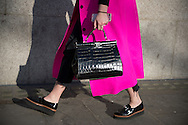 Pink Coat and Black Bag at Ports 1961