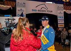 AHLMANN Christian (GER)<br /> München - Munich Indoors 2018<br /> Interview<br /> Grosser Preis der Deutschen Kreditbank AG<br /> Finale DKB-Riders Tour<br /> 25. November 2018<br /> © www.sportfotos-lafrentz.de/Stefan Lafrentz