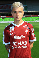 Vincent Thill poses for a portrait during the Metz squad photo call for the 2016-2017 Ligue 1 season on September 15, 2016 in Metz, France<br /> Photo : Fred Marvaux / Icon Sport