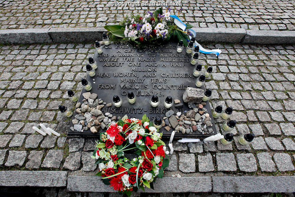 A memorial at Auschwitz-Birkenau Concentration Camp in Poland on Tuesday July 5th 2011.  (Photo by Brian Garfinkel)