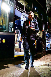 PLYMOUTH, ENGLAND - Wednesday, January 18, 2017: Liverpool's Daniel Sturridge steps off the team coach as the squad arrive at Home Park ahead of the FA Cup 3rd Round Replay match against Plymouth Argyle. (Pic by David Rawcliffe/Propaganda)