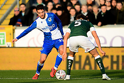 Luke Leahy of Bristol Rovers is marked by Scott Wootton of Plymouth Argyle - Mandatory by-line: Ryan Hiscott/JMP - 01/12/2019 - FOOTBALL - Memorial Stadium - Bristol, England - Bristol Rovers v Plymouth Argyle - Emirates FA Cup second round