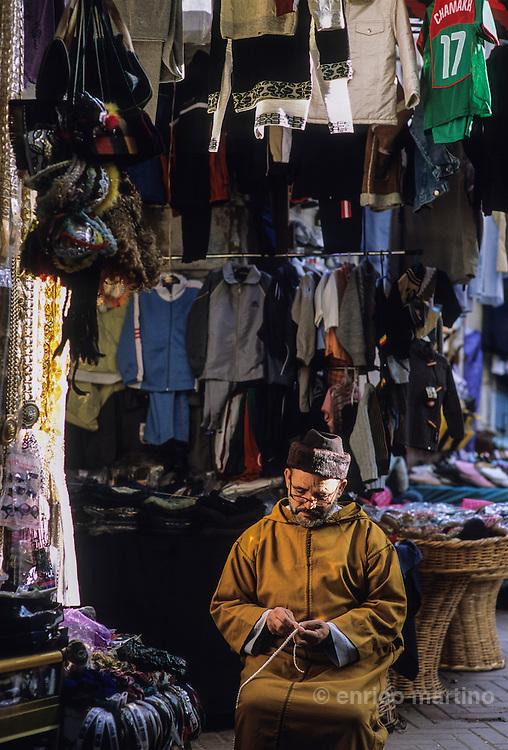 Tangier,  the old city, medina' market. Tailor.