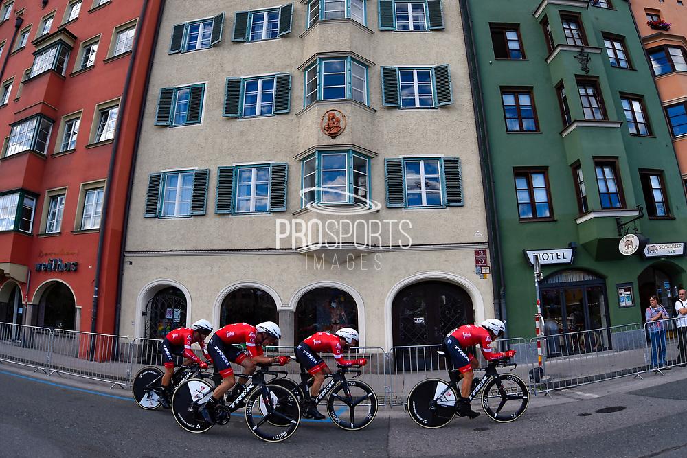 Trek - Segafredo during the 2018 UCI Road World Championships, Men's Team Time Trial cycling race on September 23, 2018 in Innsbruck, Austria - Photo Dario Belingheri / BettiniPhoto / ProSportsImages / DPPI