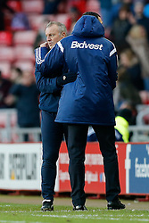 Leeds United Manager Neil Redfearn is hugged by Sunderland Manager Gustavo Poyet after Sunderland win 1-0 - Photo mandatory by-line: Rogan Thomson/JMP - 07966 386802 - 04/01/2015 - SPORT - FOOTBALL - Sunderland, England - Stadium of Light - Sunderland v Leeds United - FA Cup Third Round Proper.