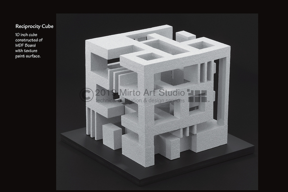 Architectural model reciprocity cube design mirto art studio for 9 square architecture