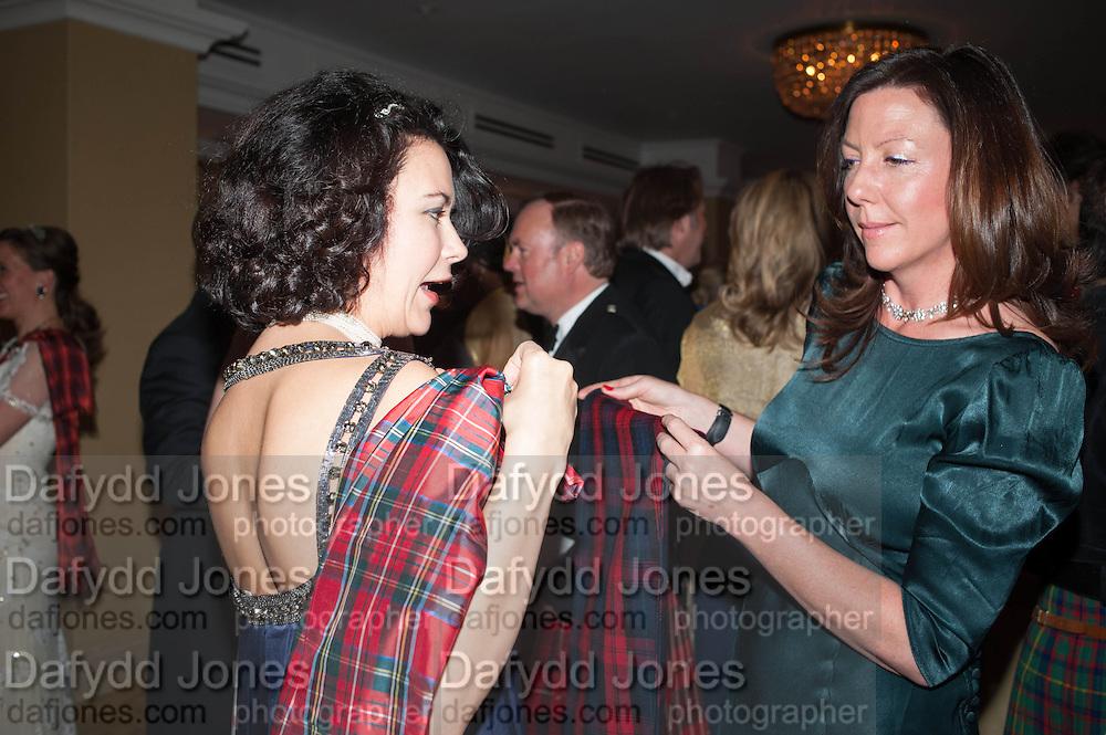 JULIA SEIFERT; ARABELLA GILCHRIST, The Royal Caledonian Ball 2013. The Great Room, Grosvenor House. Park lane. London. 3 May 2013.
