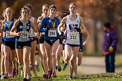 Jenna Van Vliet of the Victoria Vikes runs in the women's  6K Dash at the 2013 CIS Cross Country Championships in London Ontario, Saturday,  November 9, 2013.<br /> Mundo Sport Images/ Geoff Robins