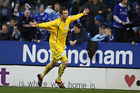 Photo: Pete Lorence.<br />Leicester City v Sheffield Wednesday. Coca Cola Championship. 02/12/2006.<br />Chris Brunt celebrates scoring from the penatly spot.
