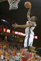 Virginia's Sean Singletary (44) dunks against Arizona as UVA defeated the #10 ranked Wildcats 93-90 in the first game at the new John Paul Jones Arena, in Charlottesville, VA on November 12, 2006...