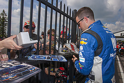 June 1, 2018 - Long Pond, Pennsylvania, United States of America - Alex Bowman (88) signs autographs for fans before qualifying for the Pocono 400 at Pocono Raceway in Long Pond, Pennsylvania. (Credit Image: © Chris Owens Asp Inc/ASP via ZUMA Wire)