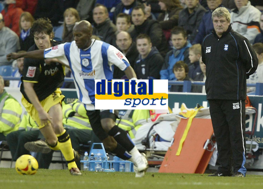 Photo: Aidan Ellis.<br /> Sheffield Wednesday v Birmingham City. Coca Cola Championship. 16/12/2006.<br /> Birmingham's Steve Bruce watches the game closely