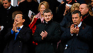 Picture by Mike  Griffiths/Focus Images Ltd +44 7766 223933<br /> 01/01/2014<br /> Vincent Tan, Ole Gunnar Solskjaer and Mehmet Dalman before the Barclays Premier League match at the Emirates Stadium, London.