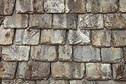 Old slate roof, Stirling Castle, Stirling, Scotland.