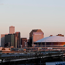 Jan 30, 2013; New Orleans, LA, USA; A general view of the downtown New Orleans and the Mercedes-Benz Superdome. Super Bowl XLVII will be played between the San Francisco 49ers and the Baltimore Ravens on February 3, 2013 at the Mercedes-Benz Superdome. Mandatory Credit: Derick E. Hingle-USA TODAY Sports