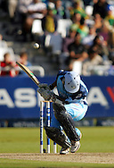 CAPE TOWN, SOUTH AFRICA - 20 April 2008, Farhaan Behardien ducks a bouncer during the Standard Bank Pro 20 Semi Final match between The Nashua Cape Cobras and Nashus Titans held at Sahara Park Newlands in Cape Town, South Africa..Photo by www.sportzpics.net