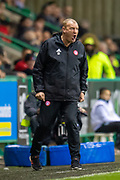 Brian Rice, manager of Hamilton Academical FC screams at his players during the Ladbrokes Scottish Premiership match between Hibernian FC and Hamilton Academical FC at Easter Road Stadium, Edinburgh, Scotland on 22 January 2020.