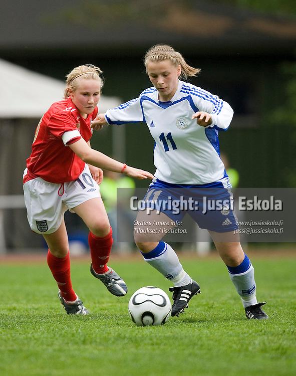 Arijana Leku. Suomi-Englanti, U17, neljän maan turnaus, Eerikkilä 25.5.2007. Photo: Jussi Eskola