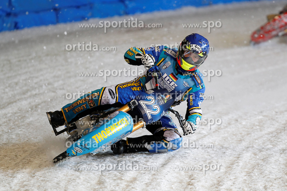 13.03.2016, Assen, BEL, FIM Eisspeedway Gladiators, Assen, im Bild Guenther Bauer (GER) // during the Astana Expo FIM Ice Speedway Gladiators World Championship in Assen, Belgium on 2016/03/13. EXPA Pictures &copy; 2016, PhotoCredit: EXPA/ Eibner-Pressefoto/ Stiefel<br /> <br /> *****ATTENTION - OUT of GER*****