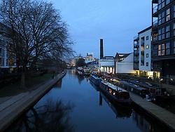UK ENGLAND LONDON 1MAR14 - View along the Regent Canal in Islington, east London.<br /> <br /> <br /> <br /> jre/Photo by Jiri Rezac<br /> <br /> &copy; Jiri Rezac 2014