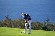 January 10 2016: Brooks Koepka hits his approach shot on ten fairway during the Final Round of the Hyundai Tournament of Champions at Kapalua Plantation Course on Maui, HI. (Photo by Aric Becker)