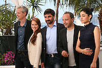 Producer Marc Bordure, actress Veronique Wuthrich, Actor Korkmaz Arslan, actress Golshifteh Farahani and director Hiner Saleem at the My Sweet Pepper Land film photocall Cannes Film Festival on Wednesday 22nd May 2013