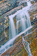 Detail of Cameron Falls, Waterton Lakes  National Park, Alberta, Canada