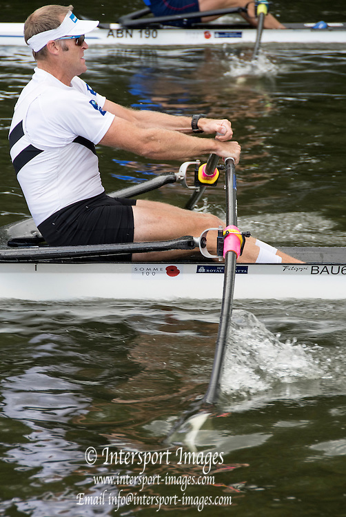Henley on Thames. United Kingdom.    NZL M1X. Mahe DRYSDALE at the semi final of the Diamond Challenge Sculls,   Saturday,  02/07/2016,      2016 Henley Royal Regatta, Henley Reach.   [Mandatory Credit Peter Spurrier/ Intersport Images]