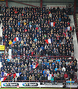 Dundee fans show respect for Paris during minute's silence - Hearts v Dundee - SPFL Premiership at Tynecastle<br /> <br />  - &copy; David Young - www.davidyoungphoto.co.uk - email: davidyoungphoto@gmail.com