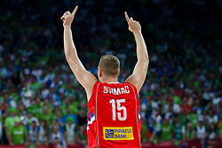 Vladimir Stimac of Serbia during the Final basketball match between National Teams  Slovenia and Serbia at Day 18 of the FIBA EuroBasket 2017 at Sinan Erdem Dome in Istanbul, Turkey on September 17, 2017. Photo by Vid Ponikvar / Sportida