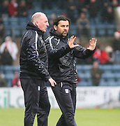 Dundee manager Paul Hartley and assistant manager Gerry McCabe - Dundee v Aberdeen, Ladbrokes Scottish Premiership at Dens Park<br /> <br />  - &copy; David Young - www.davidyoungphoto.co.uk - email: davidyoungphoto@gmail.com