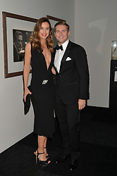 CHARLIE WEBSTER and ALLEN LEECH at the IWC Schaffhausen Gala Dinner in honour of the British Film Institute held at the Battersea Evolution, Battersea Park, London on 7th October 2014.