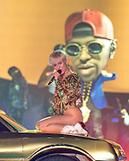 Miley Cyrus performs at the Tacoma Dome on the second night of her Bangerz 2014 tour. Photo by John Lill