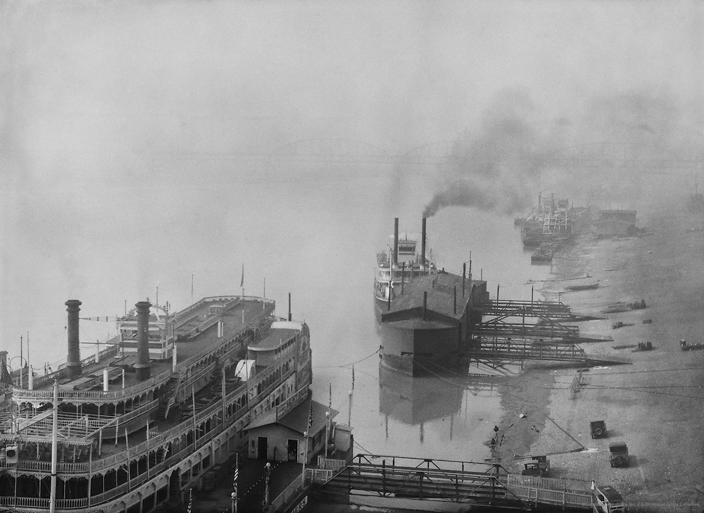 Mississippi Riverboats, St. Louis, Missouri, 1926