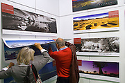 Buchmesse Frankfurt, biggest book fair in the World. Edition Panorama calendars.