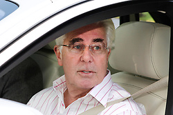 © Licensed to London News Pictures. 07/12/2012. Walton-On-Thmaes, U.K. Publicist MAX CLIFFORD talking to media as he returns to his home in his Rolls Royce on December 07, 2012 following an appointment. MAX CLIFFORD was released on bail from police custody late last night after being questioned by officers carrying out operation Yewtree. Photo credit : Rich Bowen/LNP