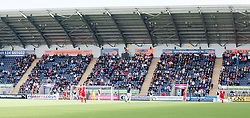 Fans in the South Stand.<br /> Falkirk 2 v 1 Raith Rovers, Scottish Championship game played today at The Falkirk Stadium.<br /> © Michael Schofield.