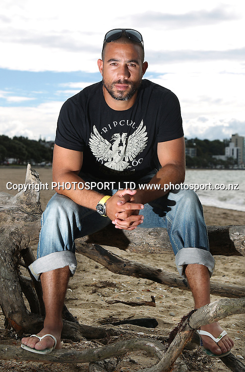 Nottinghamshire, Auckland and former New Zealand international Cricketer Andre Adams during a photoshoot at Kohimarama Beach, Auckland, New Zealand on Tuesday 1 March 2011. Photo: Andrew Cornaga/photosport.co.nz