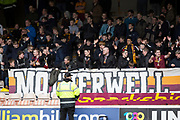 28th April 2018, Fir Park, Motherwell, Scotland; Scottish Premier League football, Motherwell versus Dundee; Motherwell fans