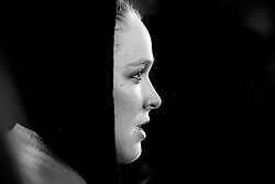 Los Angeles, California, USA - February 25, 2015: Ronda Rousey speaks to the media after working out at the UFC Gym for her upcoming bout against Cat Zingano at UFC 184 at the Staples Center in Los Angeles, California.  Ed Mulholland for ESPN