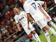 Cristiano Ronaldo reflects. Barcelona v Real Madrid, Supercopa first leg, Camp Nou, Barcelona, 23rd August 2012...Credit - Eoin Mundow/Cleva Media