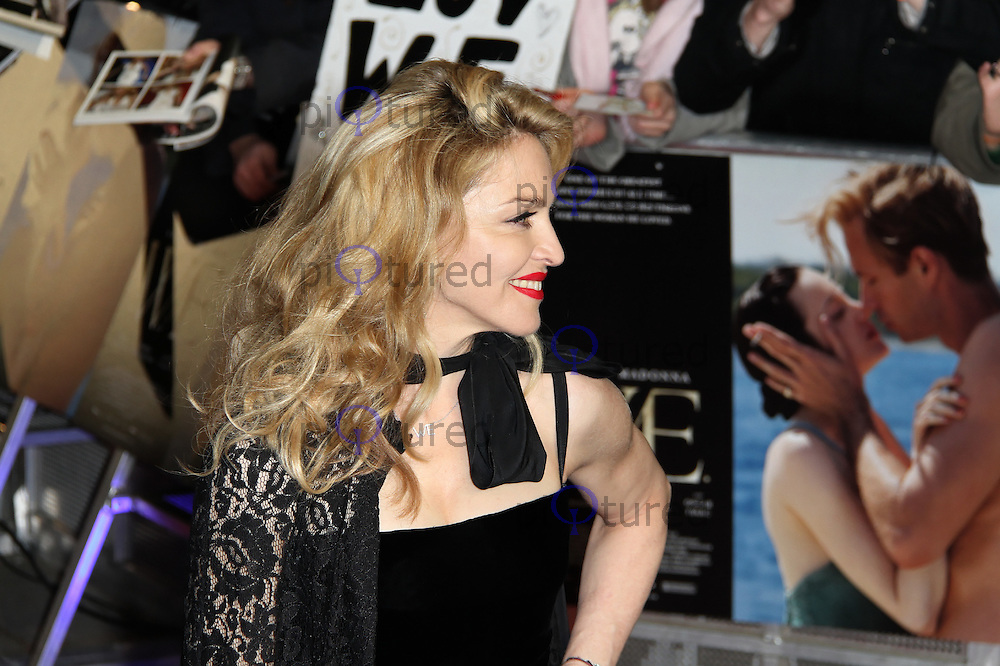 LONDON - JANUARY 11:  Madonna attends the UK Gala Premiere of 'W.E.' at the Odeon Kensington cinema, London, UK on January 11, 2012. (Photo by Richard Goldschmidt)