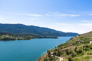 Lakeside homes along Kalamalka Lake in Vernon, British Columbia, Canada