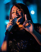 "(041109  Boston, MA) Musician and actress Jennifer Hudson performs at the Roxbury Community Health Center 23rd ""We Take Your Health To Heart"" at the Four Seasons.  Photo by Matthew Healey"