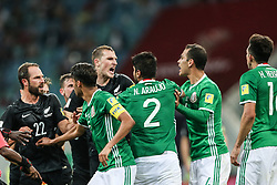 SOCHI, June 22, 2017  Players fight during the group A match between Mexico and New Zealand of the 2017 FIFA Confederations Cup in Sochi, Russia, on June 21, 2017. Mexico won 2-1. (Credit Image: © Bai Xuefei/Xinhua via ZUMA Wire)