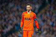 Hugo Lloris (#1) of Tottenham Hotspur FC during the Champions League quarter-final leg 2 of 2 match between Manchester City and Tottenham Hotspur at the Etihad Stadium, Manchester, England on 17 April 2019.